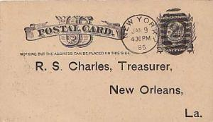 United States, Government Postal Card, New York