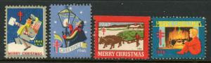1940s Christmas Seal Assortment Used