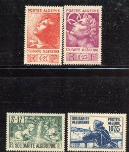 Algeria # B47-50, Mint Never Hinge. CV $ 16.00