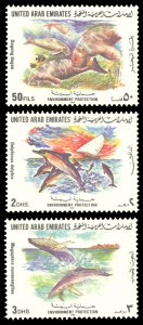 United Arab Emirates 1996 Scott #506-508 Mint Never Hinged