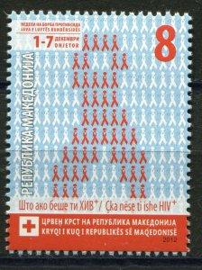 155 - MACEDONIA 2012 - Red Cross - Struggle against AIDS - MNH Set