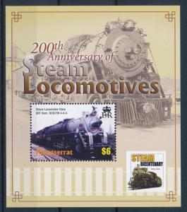 [61514] Montserrat 2004 Railway Train Elsenbahn Chemin De Fer Sheet MNH