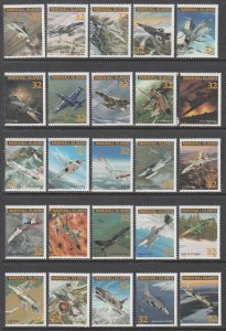 Marshall Islands 600a-600y Airplanes Singles MNH VF