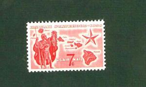 C55 Hawaii Statehood US Single Mint/nh FREE  SHIPPING