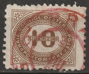 Austria 1894 Sc J7 postage due used red Prague CDS