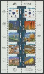 Venezuela 1995 MNH Miniature Sheet | Scott 1531 | Oil & Gas