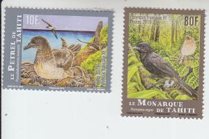 2019 Fr Polynesia Petrel & Monarch Birds  (Scott NA) MNH