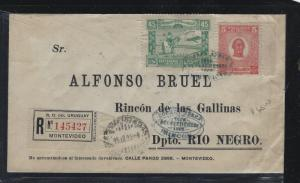 PARAGUAY  (PP2604B) 1925 A/M REG TO RIO NEGRO