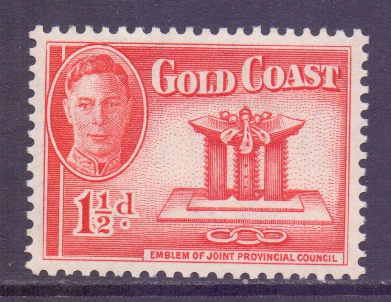 Gold Coast Scott 132 - SG137, 1948 George VI 1.1/2d MH*