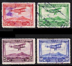 El Salvador Scott C11-14 complete set F to VF used.