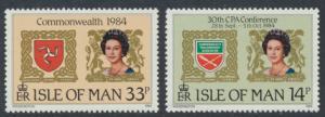 Isle of Man - SG 279-280  SC# 272-273  MUH  Commonwealth Parliamentary Confer...