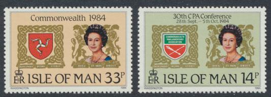 Isle of Man - SG 279-280  SC# 272-273  MUH  Commonwealth Parliamentary Confer...