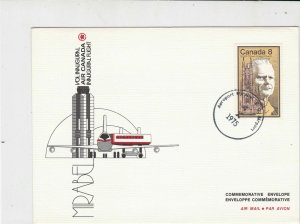 Canada 1975 Air Canada Inaugural Flight Mirabel Airmail FDC Stamps Cover rf22026
