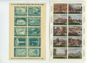 1951 Festival of Britain & 1953 Coronation London Fund for the Blind Mint Sheets