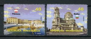 Macedonia 2018 MNH European Union EU Vienna 2v Set Architecture Tourism Stamps