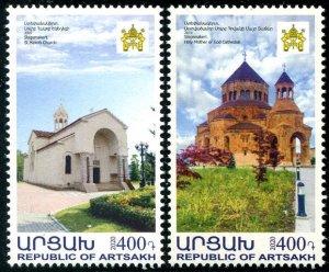 2020 Karabakh Churches - Architecture (2) (Scott NA) MNH