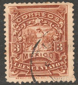 MEXICO 281 3cents MULITA UNWATERMARKED USED (171)