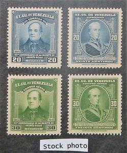 Venezuela 392-93, C216-17. 1946 Bello, Urdaneta, NH