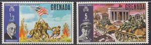 Grenada, Sc 373-374, MNH, 1970, End of WWII