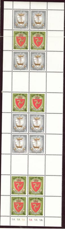 Isle of Man Scott 146 and 147 in sheet set SG 150-151