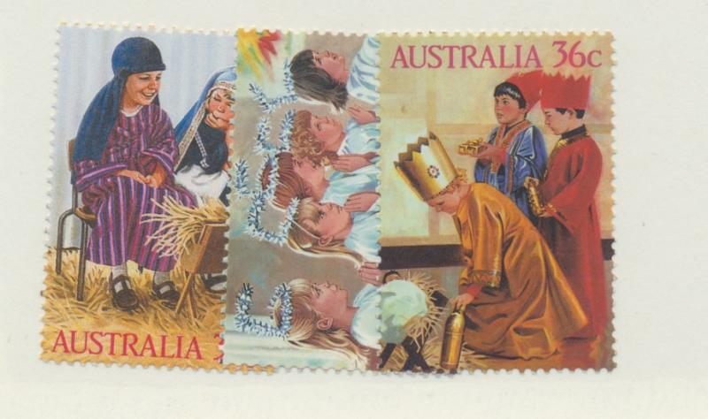 Australia Scott #1005 To 1007, Mint Never Hinged MNH, Christmas Issue From 1987