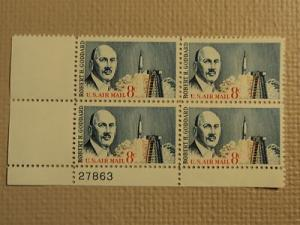 USPS Scott C69 8c US Air Mail Robert H Goddard 1964 Mint ...