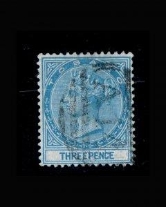 VINTAGE: TOBAGO 1883-84 USD,BH SCOTT# 2 $ 82.50 LOT# VSATOB1883A