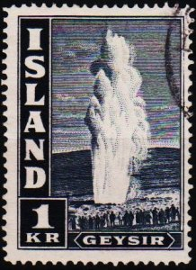 Iceland. 1938 1k S.G.233 Fine Used