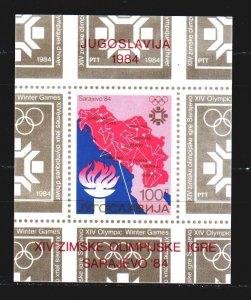Yugoslavia. 1984. bl25. Sarajevo Winter Olympics. MNH.