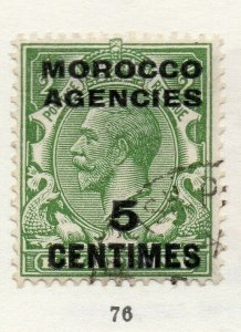 Morocco Agencies 1920s-30s Early Issue Fine Used 5c. Optd Surcharged NW-169075