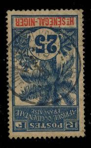 Ht-SENEGAL-&-NIGER - 1909 - CACHET À DATE DE BAMAKO-KOULOUBA SUR 25c PALMIER
