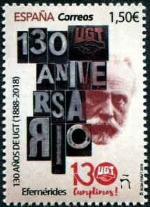 HERRICKSTAMP NEW ISSUES SPAIN Sc.# 4372E General Workers' Union