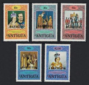 Barbuda 25th Anniversary of Coronation 2nd issue 5v SG#415-419