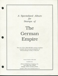 1872-1919 German Empire & Republic Specialized Stamp Supplement Pages