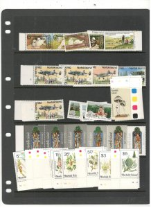 NORFOLK ISLAND COLLECTION ON STOCK SHEET, MOSTLY ALL MINT