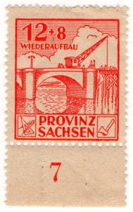 (I.B) Germany Revenue : Saxony Wiederaufbau 20pf (reconstruction)