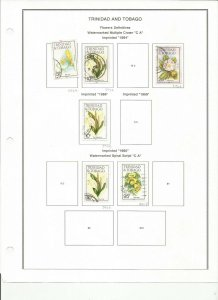 TRINIDAD AND TOBAGO  FLOWERS SCOTT GROUP USED  SHORT PRINTED 1984,1986.1985
