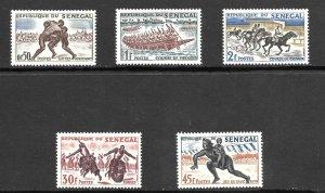 Senegal  (1961)  - Scott # 202 - 206,  MNH
