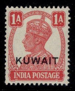 KUWAIT GVI SG55, 1a carmine, LH MINT.