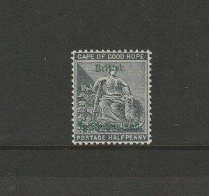 Bechuanaland 1888 QV Opts 1/2d Grey Black MM SG 30
