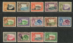 Dominica Sc#97-110 M+U/H/VF, Complete Set, Cv. $48.75