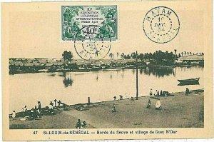 14793 - SENEGAL  AOF - Postal History -   POSTCARD postmarked MATAN  1934
