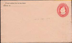 CANADA QV 3c envelope unused...............................................31711