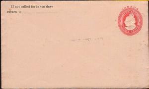 CANADA QV 3c envelope unused...............................................31711