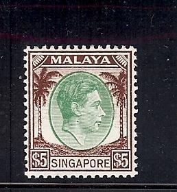 Singapore, 20, King George VI Single, **MNH**