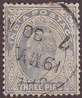 India 60 Hinged Used 1902 King Edward VII