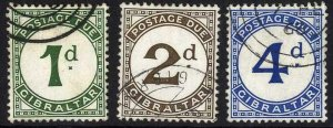 Gibraltar SGD1/D3 Post Due Set of 3 Fine Used Cat 11 pounds