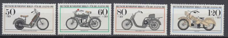 Berlin - 1983 Motorcycles Mi# 694/697 - MNH (9055)