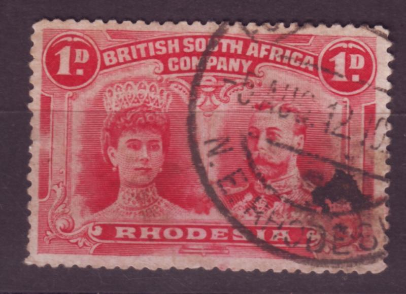 J17086 JLstamps 1910 rhodesia used #102 king and queen