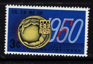 Ryukyu Is 64 Hinged 1960 issue